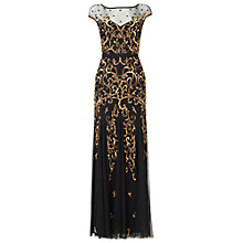 Buy Phase Eight Nina Embellished Maxi Dress, Black/Gold Online at johnlewis.com