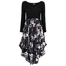 Buy Phase Eight Abingdon Print Hook Up Dress, Charcoal/Ivory Online at johnlewis.com