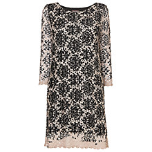 Buy Phase Eight Keira Crochet Dress, Black/Ivory Online at johnlewis.com