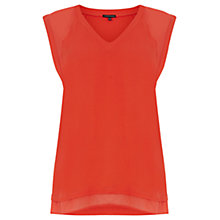 Buy Warehouse Chiffon and Crepe Mix Top Online at johnlewis.com