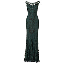 Buy Phase Eight Consuela Tapework Dress, Bottle Green Online at johnlewis.com