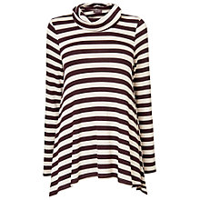 Buy Phase Eight Nora Striped Top, Port/Marl Online at johnlewis.com