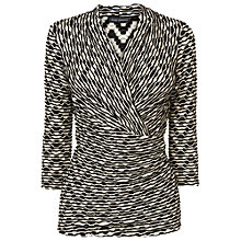 Buy Phase Eight Delta Wrap Top, Black/Cream Online at johnlewis.com