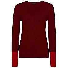 Buy Jaeger Gostwyck Contrast Jumper Online at johnlewis.com