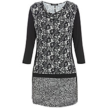 Buy Betty Barclay Cowl Neck Print Tunic Top, Black / Cream Online at johnlewis.com