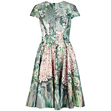 Buy Ted Baker Glitch Floral Print Full Dress, Peach Online at johnlewis.com