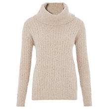 Buy Viyella Cable Cowl Neck Jumper, Natural Online at johnlewis.com