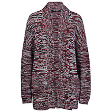 Buy Betty Barclay Chunky Two Pocket Cardigan Dark Red / Dark Blue Online at johnlewis.com