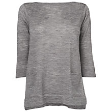 Buy Phase Eight Naomi Zip Back Jumper, Grey Marl Online at johnlewis.com