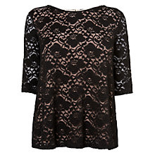 Buy Phase Eight Leoni Lace Top, Black Online at johnlewis.com