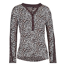Buy Betty Barclay Animal Print Shirt, Cream / Brown Online at johnlewis.com