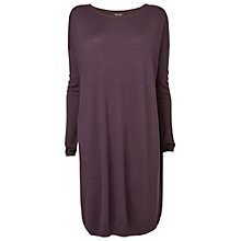 Buy Phase Eight Mollie Mix Knit Tunic Dress, Blackberry Online at johnlewis.com