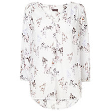 Buy Phase Eight Clarrie Horse Print Blouse, Ivory/Almond Online at johnlewis.com