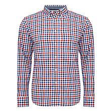 Buy Tommy Hilfiger Darwin Gingham Check Shirt, Rowboat Green/Anchor Blue Online at johnlewis.com