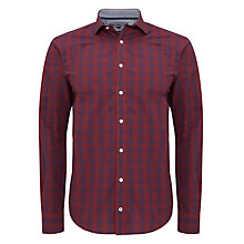 Buy Tommy Hilfiger Otmar Slim Check Shirt, Red/Blue Online at johnlewis.com