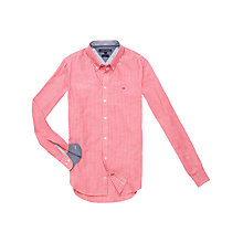 Buy Tommy Hilfiger Dusty Stripe Shirt, Vivid Red/Classic White Online at johnlewis.com