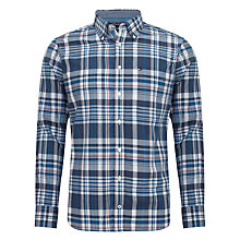 Buy Tommy Hilfiger Sander Check Cotton Shirt, Multi Blue Online at johnlewis.com