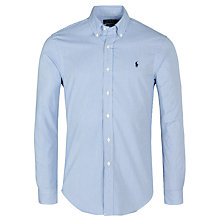 Buy Polo Ralph Lauren Slim Fit Gingham Poplin Shirt, Blue/White Online at johnlewis.com