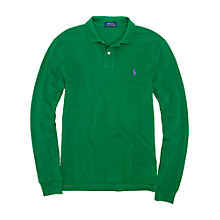 Buy Polo Ralph Lauren Long Sleeve Slim-Fit Polo Shirt Online at johnlewis.com