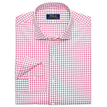 Buy Polo Ralph Lauren Slim Fit Check Poplin Shirt, White/Pink Online at johnlewis.com