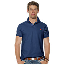 Buy Polo Ralph Lauren Custom Fit Polo Shirt, Indigo Online at johnlewis.com