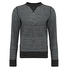 Buy Tommy Hilfiger Zac Jersey Sweatshirt, Silver Fog Online at johnlewis.com