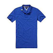 Buy Tommy Hilfiger Slim Fit Polo Shirt, Dazzling Blue Online at johnlewis.com