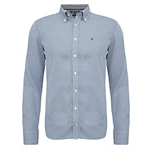 Buy Tommy Hilfiger Chase Dobby Cotton Shirt, Dutch Navy Online at johnlewis.com