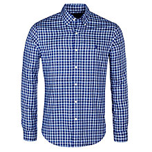 Buy Polo Ralph Lauren Slim Fit Check Oxford Shirt, Navy/Slate Online at johnlewis.com