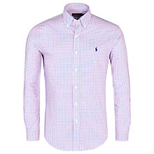 Buy Polo Ralph Lauren Slim Poplin Gingham Check Shirt Online at johnlewis.com