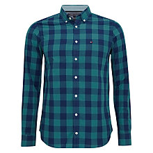 Buy Tommy Hilfiger Nardo Box Check Shirt, Rowboat Green/Blue Depths Online at johnlewis.com