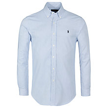 Buy Ralph Lauren Polo Slim Fit Poplin Stripe Shirt, Blue/White Online at johnlewis.com
