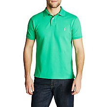 Buy Polo Ralph Lauren Custom Fit Polo Shirt, Cabo Green Online at johnlewis.com