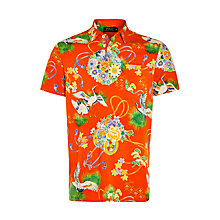 Buy Polo Ralph Lauren Short Sleeve Polo Shirt, Orange Online at johnlewis.com