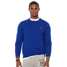 Buy Polo Ralph Lauren Crew Neck Jersey Top, Royal Blue Online at johnlewis.com