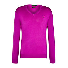 Buy Polo Ralph Lauren Pima Cotton V-Neck Sweater Online at johnlewis.com