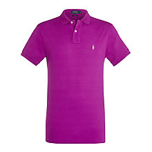 Buy Polo Ralph Lauren Slim Fit Polo Shirt, New Hyacinth Online at johnlewis.com