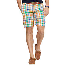 Buy Polo Ralph Lauren Hudson Checked Linen Shorts Online at johnlewis.com