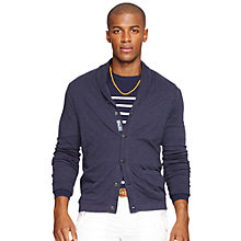 Buy Polo Ralph Lauren Shawl Neck Jersey Cardigan, Purple Cactus Online at johnlewis.com