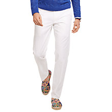 Buy Polo Ralph Lauren Straight Fit Hudson Chinos, White Online at johnlewis.com