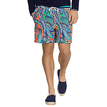 Buy Polo Ralph Lauren Paisley Print Swim Shorts, Multi Online at johnlewis.com