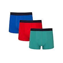 Buy John Lewis Bright Jersey Trunks, Pack of 3, Blue/Red/Green Online at johnlewis.com