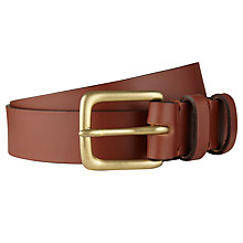Buy JOHN LEWIS & Co. X Croots England Leather Belt, Tan Online at johnlewis.com