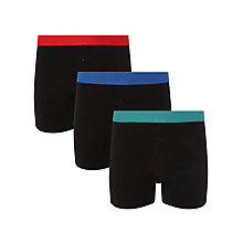 Buy John Lewis Cotton Stretch Trunks, Pack of 3, Black Online at johnlewis.com