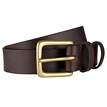 Buy JOHN LEWIS & Co. Croots Leather Belt, Oxblood Online at johnlewis.com