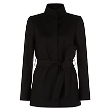 Buy Hobbs Annabelle Coat, Black Online at johnlewis.com