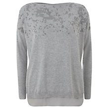 Buy Mint Velvet Caviar Bead Knit Top, Grey Online at johnlewis.com