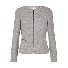 Buy Hobbs Quin Jacket, Grey Online at johnlewis.com