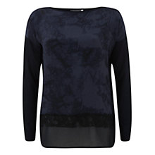 Buy Mint Velvet Celeste Print Knit Top, Blue Online at johnlewis.com