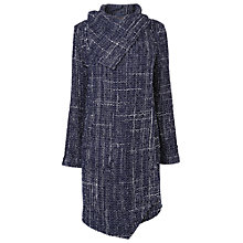 Buy Phase Eight Textured Bellona Coat, Navy Online at johnlewis.com